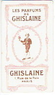 Carte Parfum - Les Parfums De GHISLAINE - Salon De Coiffure J. POUGET à TULLE - Cartes Parfumées