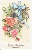 Ill Gougeon, Roses, Ruban, Fer à Cheval, 2 Scans - Geburtstag