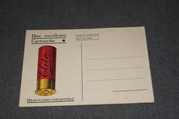 Ancienne Publicité Arme,cartouche De Chasse Elite 1934 Sur Cate Postale,14 Cm. Sur 10,5 Cm. - Pubblicitari