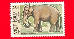 VIETNAM Nord - Viet Nam - 1984 - Elefante Asiatico (Elephas Maximus) - Indidus - 2 - Vietnam