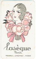 Carte Parfum - LASEGUE - Poudres...Crèmes...fards à PARIS - Cartes Parfumées