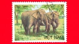 VIETNAM Nord - Viet Nam - 1987 (1986) - BUU CHINH - Elefante Asiatico (Elephas Maximus) - 1 - Vietnam