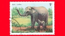 VIETNAM Nord - Viet Nam - 1987 (1986) - Elefante Asiatico (Elephas Maximus) - 1 - Vietnam