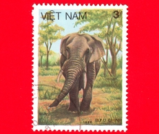 VIETNAM Nord - Viet Nam - 1987 (1986) - Elefante Asiatico (Elephas Maximus) - 3 - Vietnam