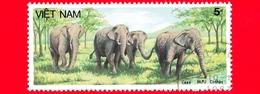 VIETNAM Nord - Viet Nam - 1987 (1986) - BUU CHINH - Elefante Asiatico (Elephas Maximus) - 5 - Vietnam