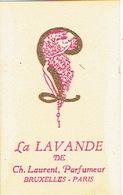 Carte Parfum - LA LAVANDE De Ch. LAURENT, Parfumeur - BRUXELLES - PARIS - Cartes Parfumées