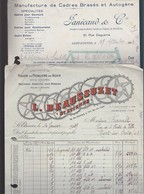 Vélo Cycle / Saint Etienne / 2 Fact Roues Pedaliers L.Beausuzet, Cadres Brasés Panicaud - 1900 – 1949