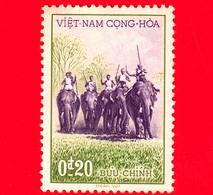 VIETNAM Sud - Viet Nam - 1957 - Governo Del Presidente Ngo-dinh-Diem - Cacciatori Di Elefanti - 0.20 - Vietnam
