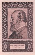 Carte Fête Nationale Suisse 1919 Non Ciculé, Gottfried Keller, Litho (817) - Other