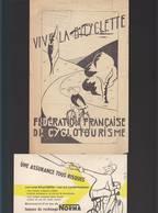 Vélo Cycle / Carte Postale Assurance Norma + Bulletin Adhésion Fédération Cyclotourisme, Cachet Nantes - 1900 – 1949