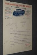 Ancienne Facture Lettre De 1934 ,Henri De Boeck,tourisme Automobile,autocars ,originale Pour Collection - Belgio