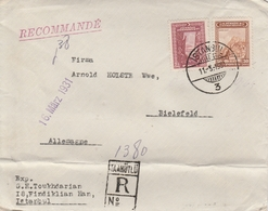 Turquie Lettre Recommandée Istambul Pour L'Allemagne 1931 - 1921-... Republiek