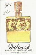 Carte Parfum - ILES D'OR De MOLINARD - Parfumeur à GRASSE Et PARIS - Cartes Parfumées