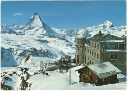 Zermatt - Gornergrat 3150 M - Matterhorn 4478 M - Dt. Blanche 4357 M - (Schweiz/Suisse) - Zug/Train - VS Valais