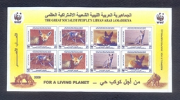 Libya/Libye  2008 - Imperforate Minisheet - Rare Item - For A Living Planet - World Nature Conservation - Ruppell's Fox - Libya