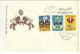 LIBIA 1962 - THIRD PHILIA - SCOUT - FDC - Libia