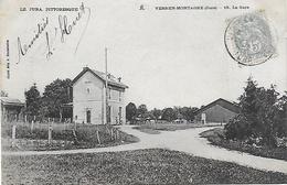 CPA ( 39 Jura ) Vers En Montagne La Gare - Altri Comuni