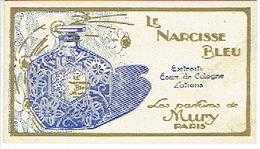 Rare Carte Parfum - LE NARCISSE BLEU De MURY - Cartes Parfumées