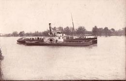 "CALARASI : BATEAU / SHIP "" TEPES VODA "" Sur / On DANUBE - CARTE VRAIE PHOTO / REAL PHOTO POSTCARD ~ 1945 - RRR ! (ad729) - Roumanie"