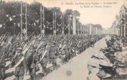 75-PARIS FETE DE LA VICTOIRE 19 JUILLET 1919 ARMEE ANGLAISE-N°T1080-G/0209 - Sonstige