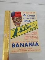 11331  REGLEMENT CONCOURS 1934 BANANIA - Pubblicitari