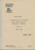 989/25 -- LIVRE/BOEK WEFIS Nr 34 - OSTENDE Datumstempels , 25 Blz ,  1983 , Door John Brys - Philatelie Und Postgeschichte