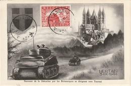 Cartes Maximum - COB 824 + 825 / Hertain - 1934-1951