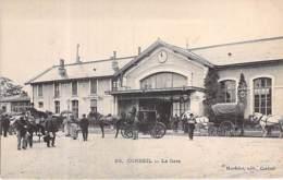 91 - CORBEIL ESSONNES : La Gare ( Animation - Attelages )  CPA - Essonne - Corbeil Essonnes