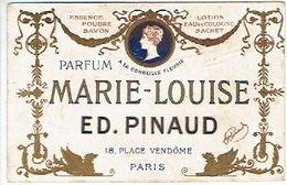 Carte Parfum - MARIE-LOUISE De ED. PINAUD - Paris - Calendrier De 1907 Au Verso - Cartes Parfumées