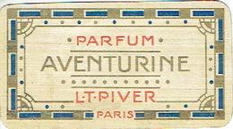 Carte Parfum - AVENTURINE De L.T. PIVER - Maison DEBAECKER à HAZEBROUCK - Cartes Parfumées