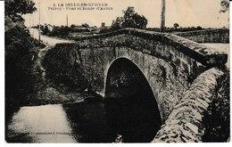 Saône Et Loire LA SELLE EN MORVAN Pont Et Route D'Autun - France
