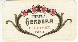 Carte Parfum - GERBERA De L.T. PIVER - Maison DEBAECKER à HAZEBROUCK - Parfumerie - Cartes Parfumées