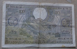 100 Frank Of 20 Belga's 17.10.1942 - 100 Francs & 100 Francs-20 Belgas