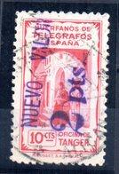 Sello Tanger Con Sobrecarga Valor 2 Pts - Marocco Spagnolo