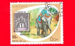 Nuovo Oblit. - LAOS - 1990 - Mostra Filatelica Mondiale Londra 90 - Indo-Cina 1893 -  Elefante Asiatico  - 60 - Laos