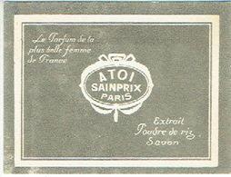 """Carte Parfum - A TOI De SAINPRIX  - """"Le Parfum De La Plus Belle Femme De France"""" - PARIS - Cartes Parfumées"""