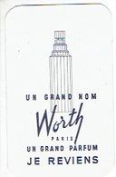 Carte Parfum - JE REVIENS De WORTH - Cartes Parfumées