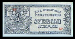 # # # Banknote Niederländisch Indien (Neth. Indies) 1/2 Roepiah AU # # # - Indonesia