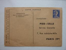 Entier 0,20 Fr Muller, Timbré Sur Commande Pied-Selle - Standard Postcards & Stamped On Demand (before 1995)