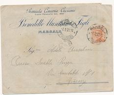 1927 MARSALA DC + PREMIATA CONCERIA CUCIRINI - Storia Postale
