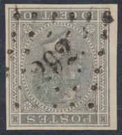 """émission 1865 - N°17 Non Dentelé Obl Pt 292 """"Pepinster"""". TB Et R - 1865-1866 Profil Gauche"""