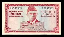 # # # Seltene Banknote Pakistan 5 Rupees UNC # # # - Pakistan