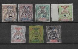 Nouvelle Calédonie N°81/87 - Neuf * Avec Charnière - TB - Nouvelle-Calédonie