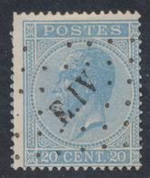 émission 1865 - N°18 Obl Ambulant Pt E.IV (Liège - Erquelinnes). TB - 1865-1866 Linksprofil