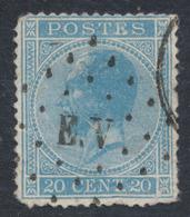 émission 1865 - N°18 Obl Ambulant Pt E.V (Liège - Erquelinnes). TB / COBA : 40+ - 1865-1866 Linksprofil