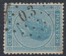 émission 1865 - N°18 Obl Ambulant Pt O.3 (Gand - Mouscron) - 1865-1866 Linksprofil