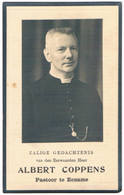 Dp. Pastoor Te Te Eename. Coppens Albert. ° Lede (Aalst) 1884 † Oudenaarde 1941  (2 Scan's) - Religión & Esoterismo