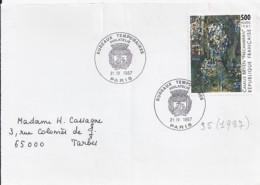 N°2493  SUR DEVANT DE LETTRE DE 1987 - Storia Postale