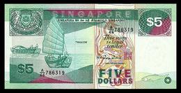 # # # Banknote Singapur (Singapore) 5 Dollars 1987 UNC # # # - Singapore