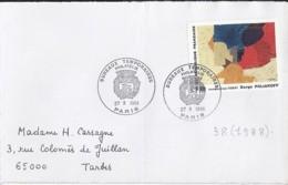 N° 2554 SUR DEVANT DE LETTRE DE 1988 - 1961-....